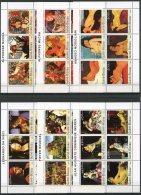 Guinea Bissau, 2003, Paintings, Da Vinci, Bruegel, Ingres, Mucha, Modigliani, MNH, Michel 2531-2566, Block 436-440 - Guinée-Bissau