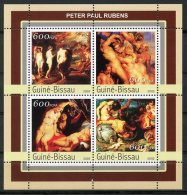 Guinea Bissau, 2003, Paintings, Rubens, MNH, Michel 2156-2159 - Guinée-Bissau