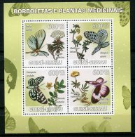 Guinea Bissau, 2009, Butterflies, Flowers, Insects, Animals, Flora, Fauna, MNH, Michel 4127-4130 - Guinea-Bissau