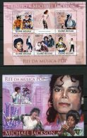 Guinea Bissau, 2009, Michael Jackson, Pop Singer, Pop Music, MNH, Michel 4303-4307, Block 704 - Guinée-Bissau