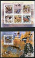 Guinea Bissau, 2009, Hunting Dogs, Ducks, Animals, Fauna, MNH, Michel 4486-4490, Block 732 - Guinée-Bissau