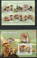 Guinea Bissau, 2010, Mushrooms, Flora, MNH, Michel 4623-4627, Block 752 - Guinée-Bissau