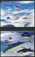 Guinea Bissau, 2009, Fish, Animals, Fauna, MNH, Michel 4343-4347, Block 705 - Guinea-Bissau