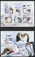 Guinea Bissau, 2009, Penguins, Animals, Fauna, MNH, Michel 4390-4394, Block 714 - Guinea-Bissau
