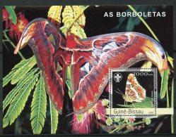 Guinea Bissau, 2003, Butterflies, Flowers, Insects, Animals, Flora, Fauna, Scouting, MNH, Michel Block 429 - Guinée-Bissau