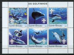 Guinea Bissau, 2003, Dolphins, Sea Life, Animals, Fauna, Scouting, MNH, Michel 2584-2589 - Guinea-Bissau