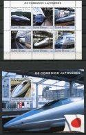 Guinea Bissau, 2003, High Speed Trains Japan, Railways, Railroads, MNH, Michel 2246-2251, Block 403 - Guinée-Bissau