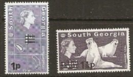 South Georgia  1971  SG 19,55  Overprints  Unmounted Mint - South Georgia