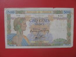 - Billet CINQ CENTS 500 FRANCS  Type La Paix 16-5 1940 - 1871-1952 Circulated During XXth