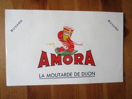 """Buvard """" Amora La Moutarde De Dijon """" Homard 20 X 12 Cm - Mostard"""
