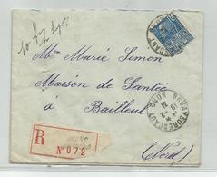 FRANCE - TIMBRE SUR ENVELOPPE CAD BRUAY SUR ESCAUT 10/2/1931 POUR BAILLEUL - France