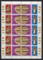 Hungary 1982. Famous Arts Of Vatican Nice COMPLETE SHEET MNH (**) Michel: 3587-3592 - Volledige & Onvolledige Vellen