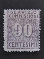 """ITALIA Regno Servizio Commissioni-1913- """"Cifra"""" C. 90 MH* (descrizione) - 1900-44 Victor Emmanuel III."""