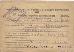 CARTE POSTALE 1946 POUR PRISONNIERS DE GUERRE AVEC CACHET DE CENSURE - 1923-1991 URSS
