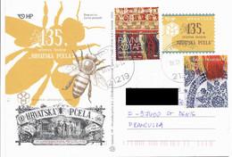 CROATIE CROATIA HRVATSKA Trogir 2018 -> FRANCE Abeille Entier 135th Magazine Croatian Bees Postal Stationery - Croatie