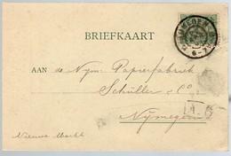 1901 Behanger En Beddenfabrikant Nijmegen 1901 > Papierfabriek Schüller Nijmegen ( (CD-66) - Postwaardestukken