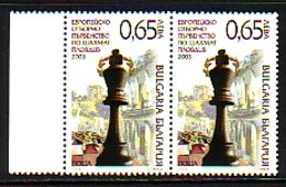 BULGARIA / BULGARIE - 2003 - European Chess Coup - Plovdiv  Paire ** - Bulgarie