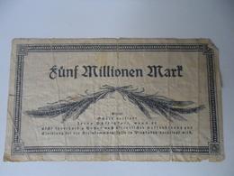 Alemania - Germany 5 Millionen  Mark - [ 3] 1918-1933 : Weimar Republic
