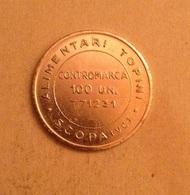 TOKEN JETON GETTONE COOPERATIVA SCOPA ALIMENTARI TOPINI 100 UNITA - Monetary/Of Necessity