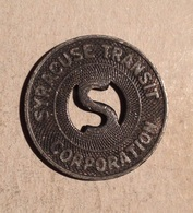 TOKEN JETON GETTONE TRASPORTI TRANSIT SYRACUSE - Monetary/Of Necessity