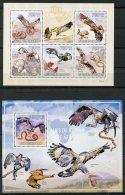 Guinea Bissau, 2009, Birds Of Prey, Animals, Fauna, MNH, Michel 4414-4418, Block 719 - Guinea-Bissau