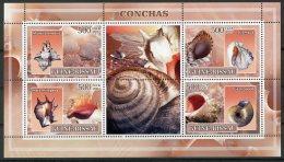 Guinea Bissau, 2007, Snails, Animals, Fauna, MNH, Michel 3578-3581 - Guinea-Bissau