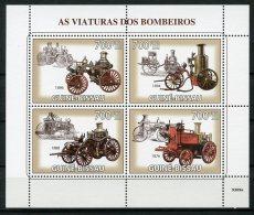 Guinea Bissau, 2009, Fire Engines, Fire Brigade, MNH, Michel 4271-4274 - Guinée-Bissau