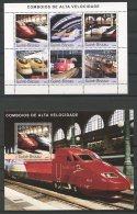 Guinea Bissau, 2003, High Speed Trains, Railways, Railroads, MNH, Michel 2408-2413, Block 421 - Guinea-Bissau