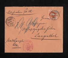 HEIMAT SOLOTHURN → 1892 Nachnahme Stadtgemeinde Olten Nach Langenthal  ►SBK-66C◄ - Lettres & Documents