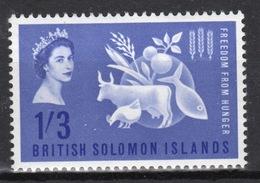 British Solomon Islands 1963 Queen Elizabeth Freedom From Hunger Unmounted Mint Stamp - British Solomon Islands (...-1978)
