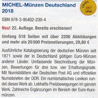 Münzen MICHEL Deutschland+EURO 2018 Neu 30€ Ab 1871 DR 3.Reich BRD DDR Numismatik Coins Catalogue 978-3-95402-230-4 - Kronieken & Jaarboeken