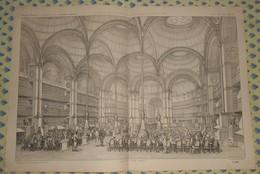 Plan De La Nouvelle Salle De Lecture De La Bibliothèque Impériale à Paris .1869 - Public Works