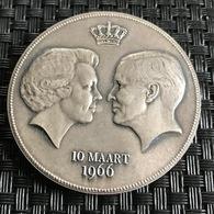 Netherlands Beatrix En Claus 10 Maart 1966 - Elongated Coins