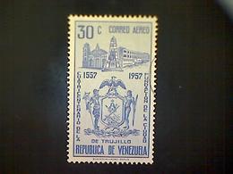 Venezuela, Scott #C695, Used (o), 1958 Air Mail, City Of Trujillo Commemorative, 30cts - Venezuela