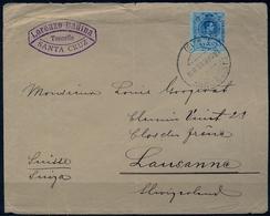 1915 , CANARIAS , SANTA CRUZ DE TENERIFE - LAUSANNA , SOBRE COMERCIAL CIRCULADO - 1889-1931 Regno: Alfonso XIII