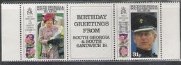South Georgia 1991 65th Birthday Queen Elizabeth II & 70th Birthday Prince Philip MNH CV £3.20 - South Georgia