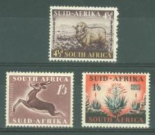 South Africa: 1953   Pictorials SG146-148    MH - Südafrika (...-1961)