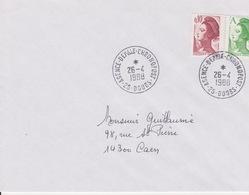 Lettre 1988 TàD Manuel AGENCE DEPartementale CHRONOPOST 25 DOUBS Besançon Sur Liberté A - Marcofilia (sobres)