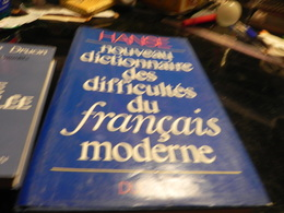 NOUVEAU DICTIONNAIRE DES DIFFICULTESDU FRANCAIS MODERNE DE JOSEPH HANSE - Dictionaries