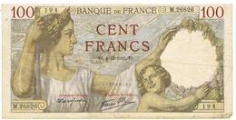FRANCE-BILLET DE 100 FRANCS-TS-4-12-1941-2 SCANS- - 1871-1952 Circulated During XXth