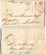 AR87) GREAT BRITAIN - Entire From Liverpool To Lisbon. - ...-1840 Precursori
