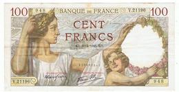 FRANCE-BILLET DE 100 FRANCS-ED-30-4-1941-2 SCANS- - 1871-1952 Circulated During XXth