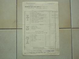 ITALIA REGNO BUSTA PAGA UFFICIALE REGIO ESERCITO PRESSO CAMPO DI CONCENTRAMENTO NR. 15 DEL 1943 - Chemins De Fer