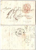 AR90) GREAT BRITAIN - Leith ( Scotland ) To Cognac ( France ) - 1836 - ...-1840 Precursori