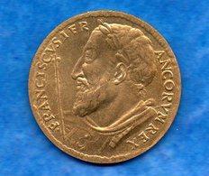 Médaille- Non Datée En Laiton, FRANCOIS 1er  -   état  Circulée  Leg Usure - Royal / Of Nobility