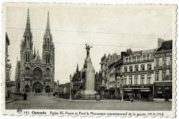 Oostende  143 Monument De Guerre 1914 1918 - Oostende