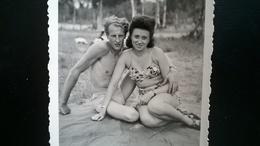Hofstade Zemst Brabant Flamand Belgique Lot 13 Photos Originales Lac Plage Artificiel Maillots Vintage  Années 1944 à 49 - Lieux