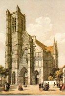 Auxerre La Cathedrale Saint Etienne 1982 Lithographie  CPM Ou CPSM - Auxerre