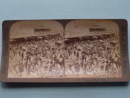 The Bazaar Of Jaffa PALESTINE ( N° 2 ) Stereo Photo : Underwood & Underwood Publi ( Voir Photo ) ! - Stereoscopic