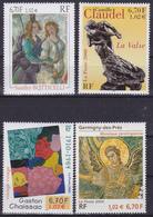 Série Artistique De 4 T.-P. Gommés - Botticelli Claudel Chaissac Mosaïque - N° 3301-3309-3350-3358 (Yvert) - France 2000 - Frankreich